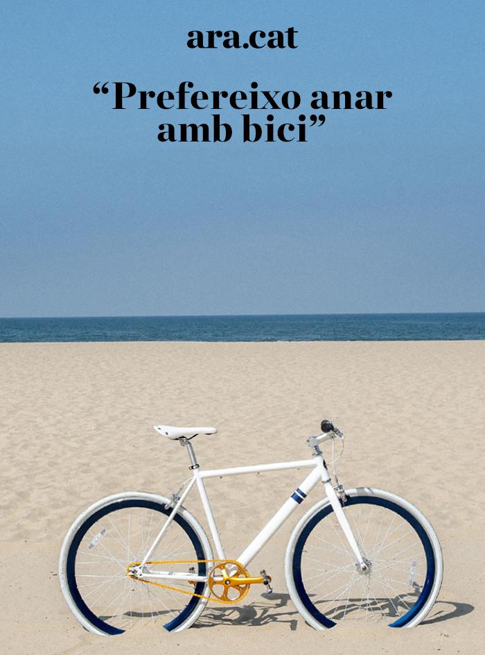 Prefereixo anar amb bici