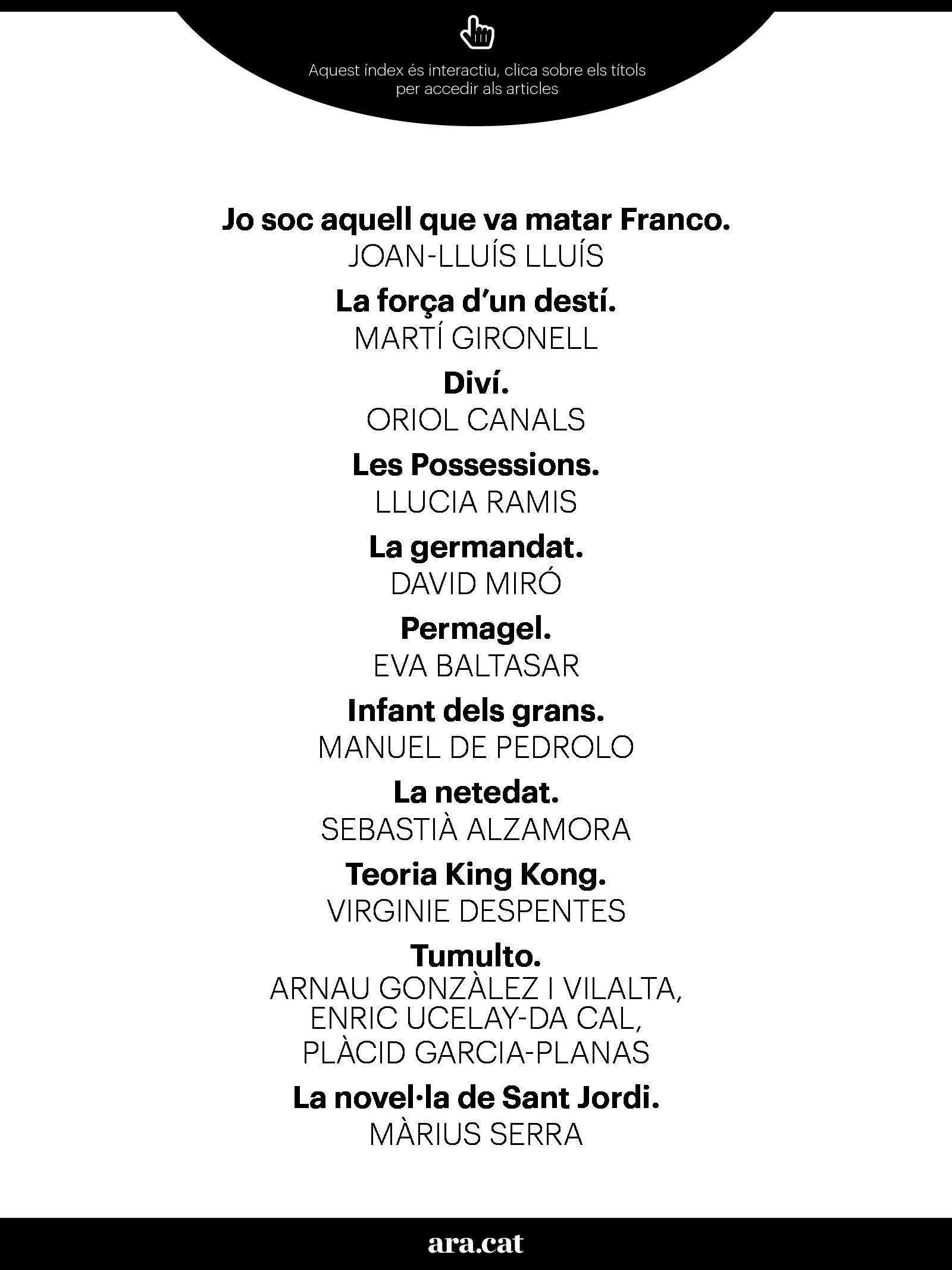 Imprescindibles per  Sant Jordi 2