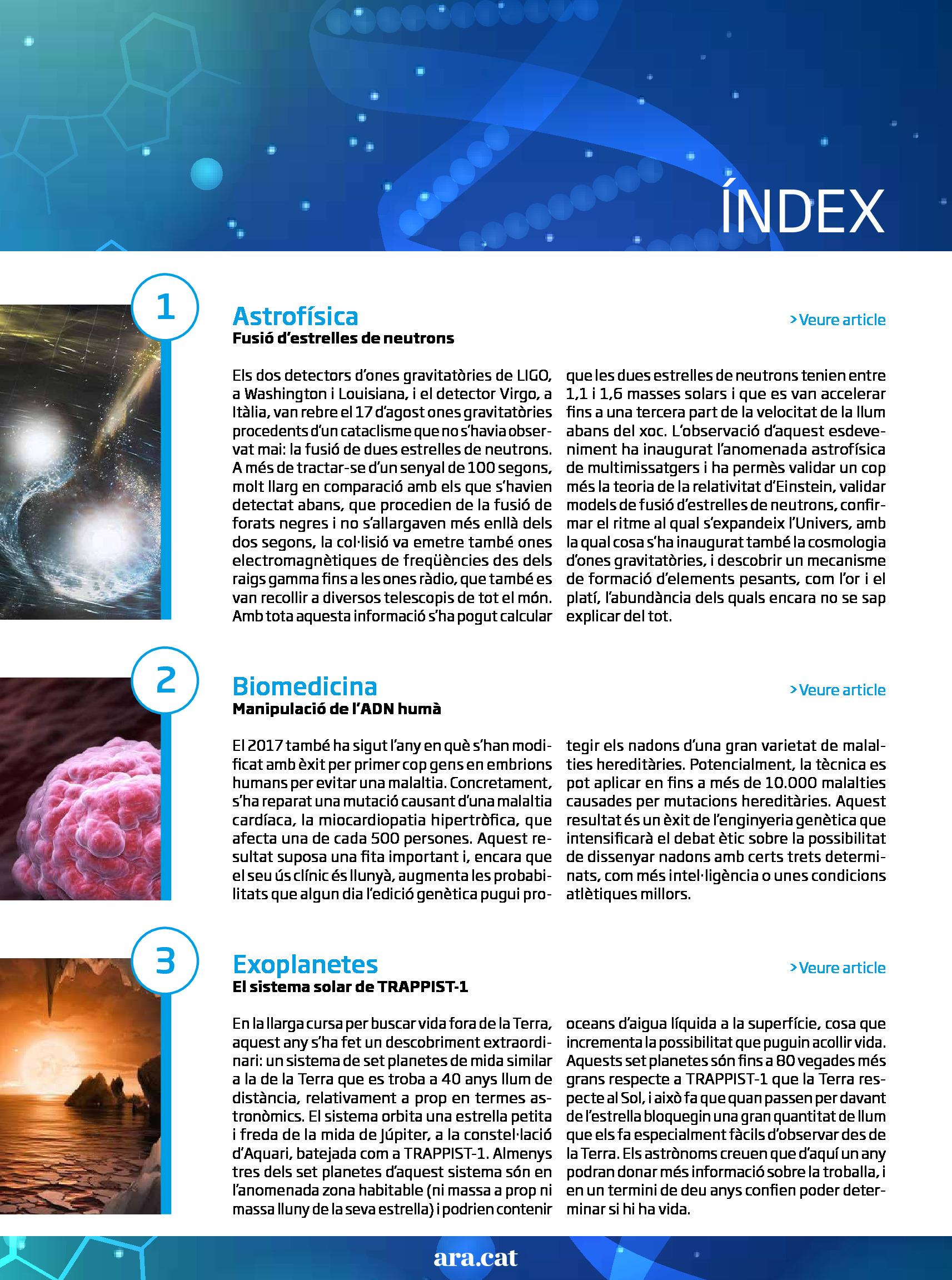 Les 10 troballes científiques del 2017 1