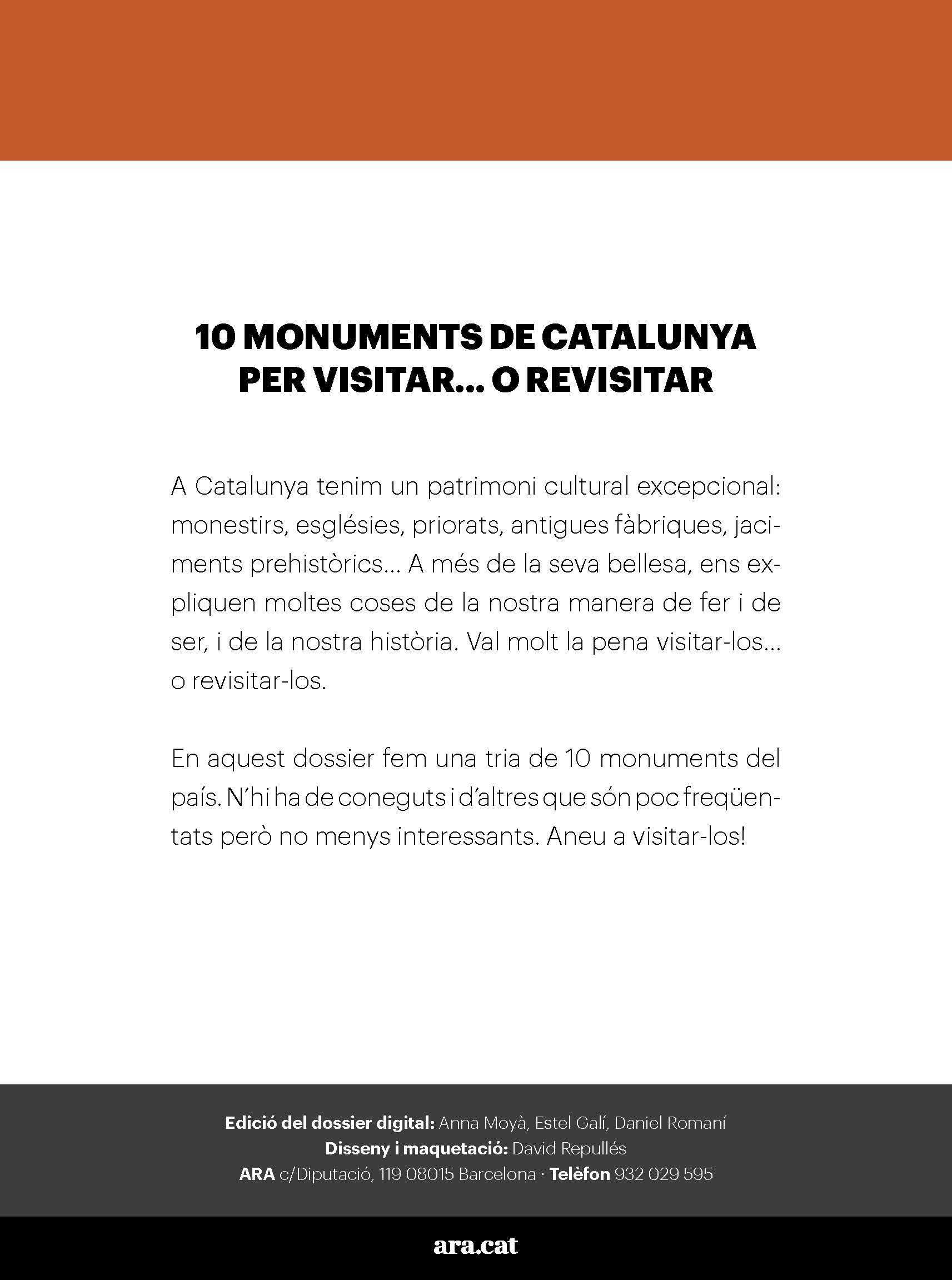 10 monuments de Catalunya per visitar... o revisitar 1
