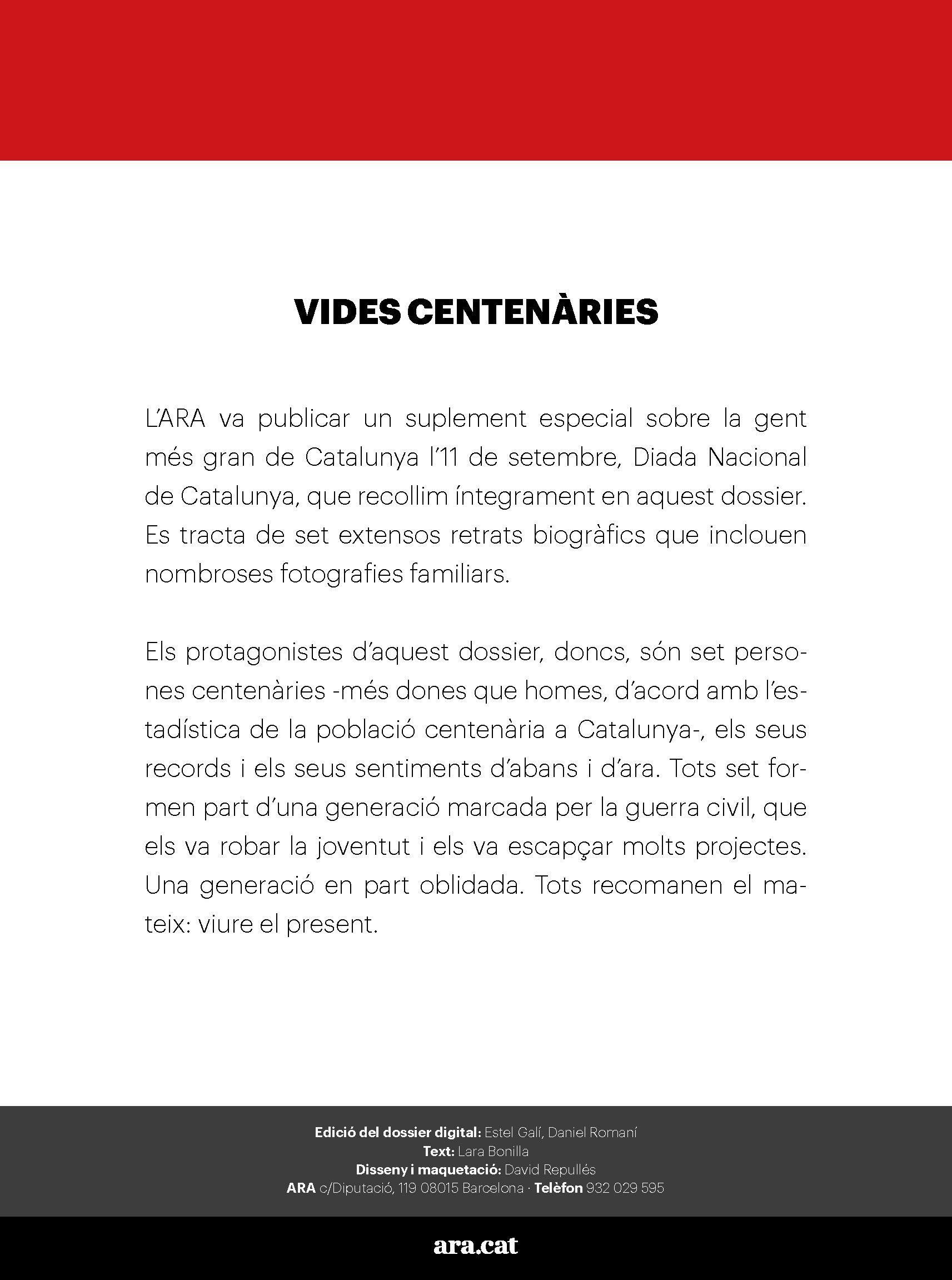 Un segle de vida quotidiana a Catalunya 1