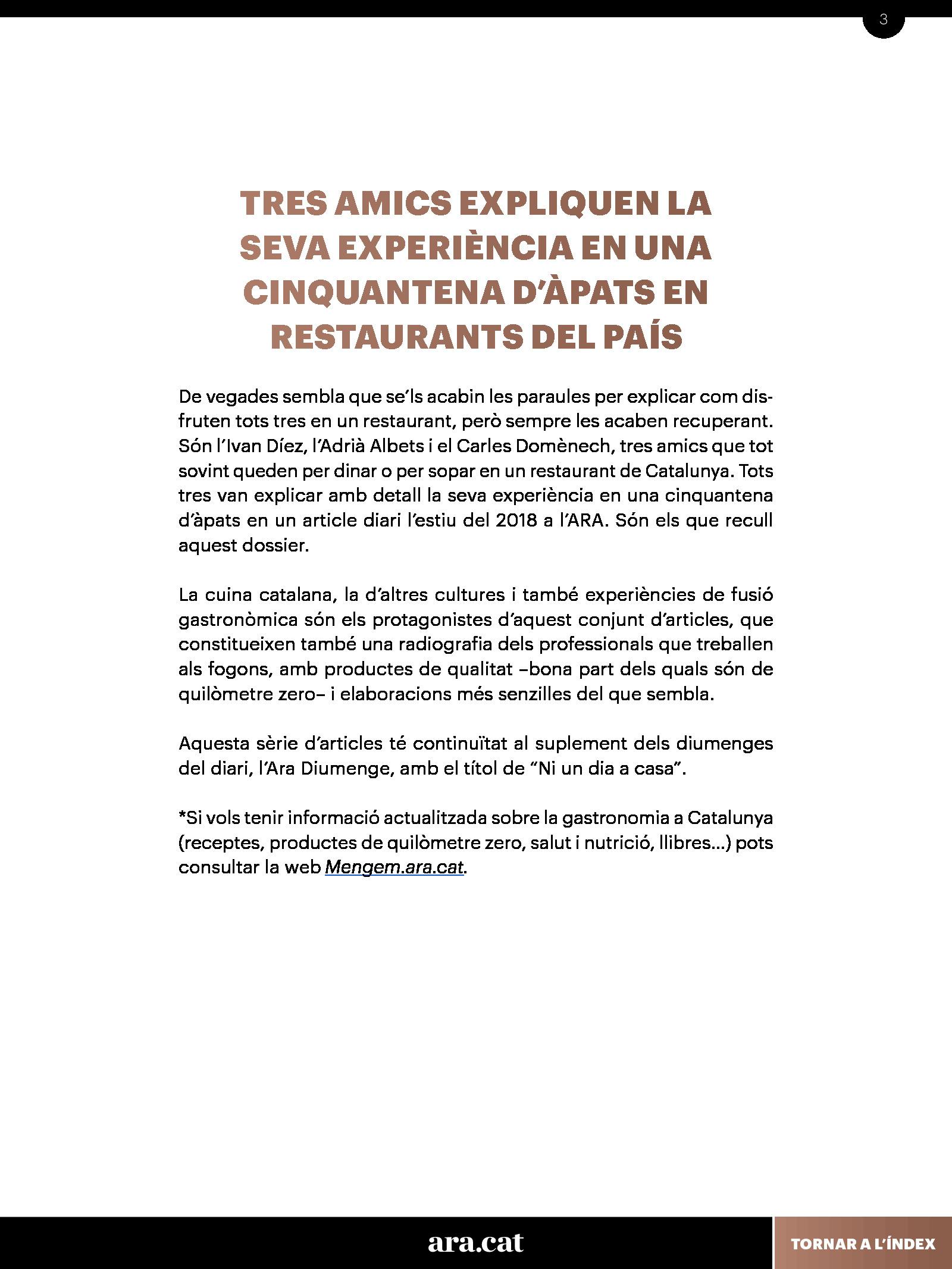 Guia de restaurants imprescindibles 2
