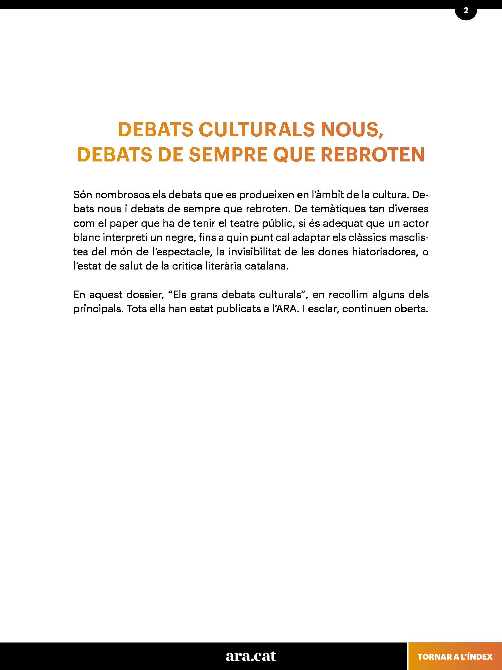 Els grans debats culturals 1