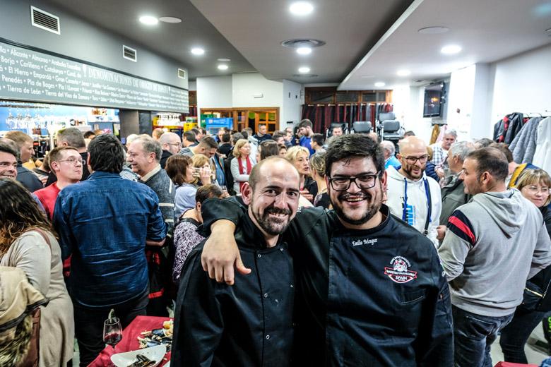 Mario Soler i Emilio Belenguer el dia de la inauguració del seu nou local a Andorra.