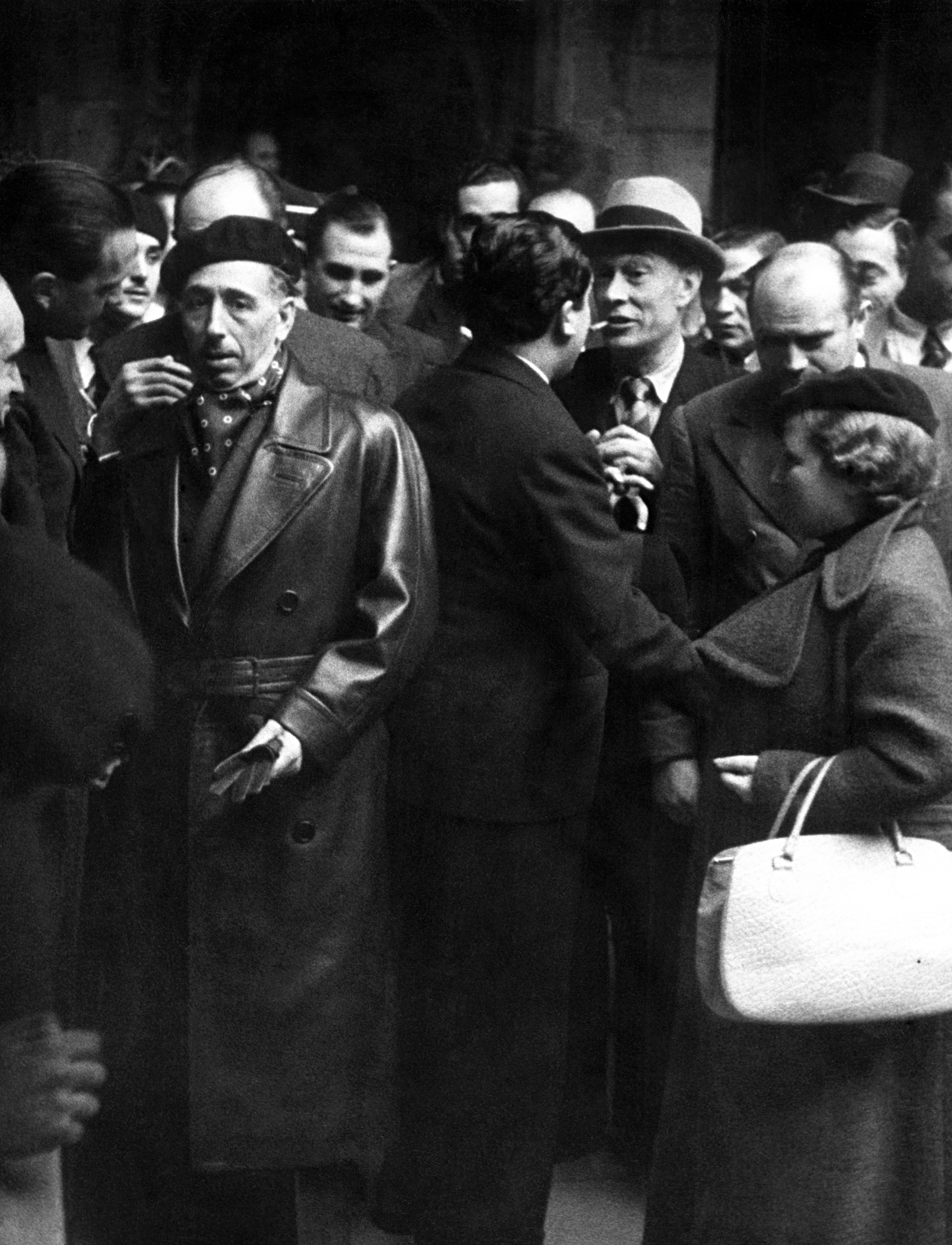 Companys i la seva esposa Carme Ballester en un viatge que van fer a París durant la Guerra Civil.