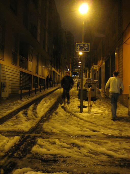 El Max esquiant a Gràcia.